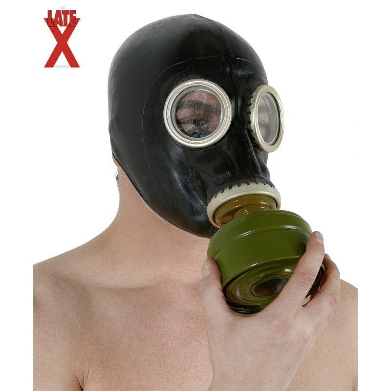 Latex Gas Mask unisize LATE X