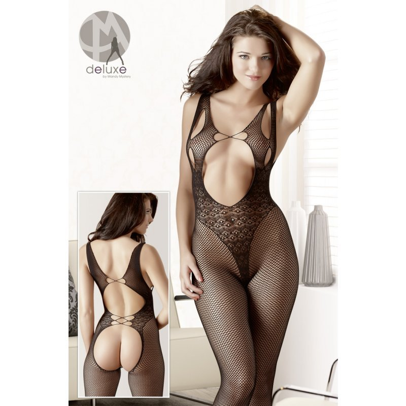 Lace Pattern Catsuit S-L Mandy Mystery Deluxe
