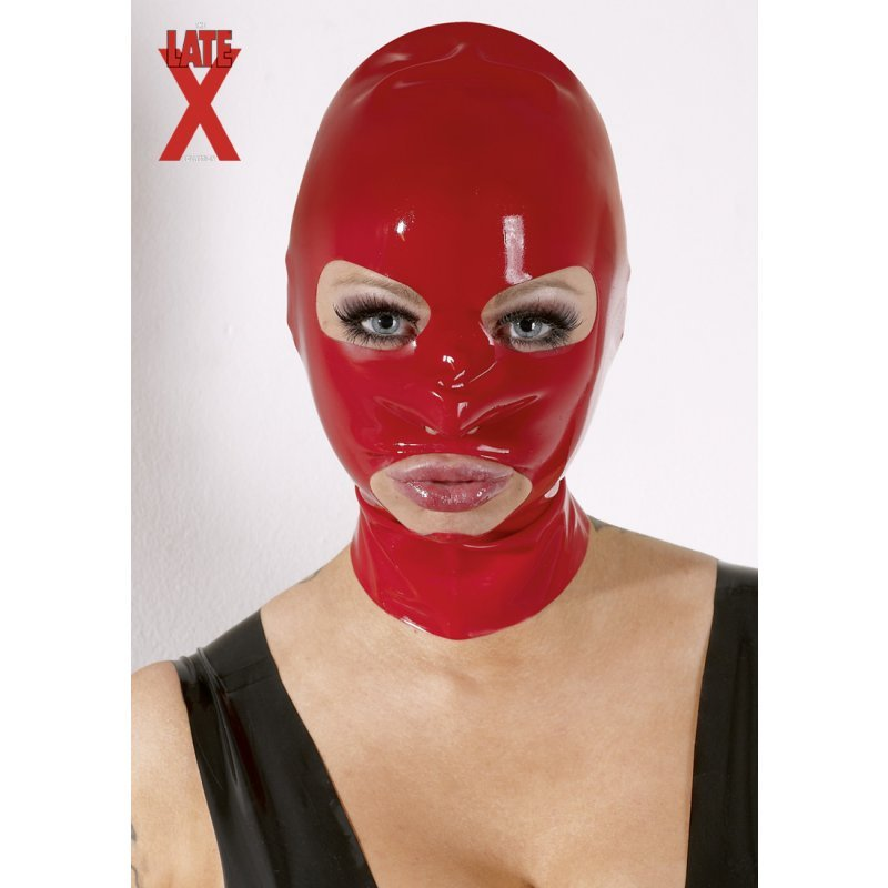 Latex Mask red LATE X