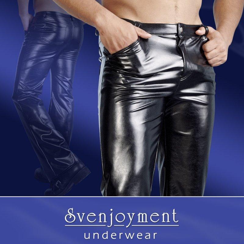 Pánské kalhoty z imitace kůže S Svenjoyment