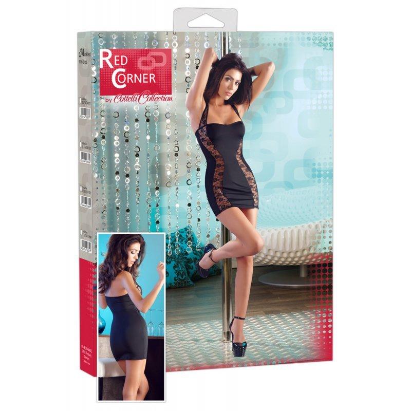 Sexy šaty s krajkovým prostřihem XS Red Corner