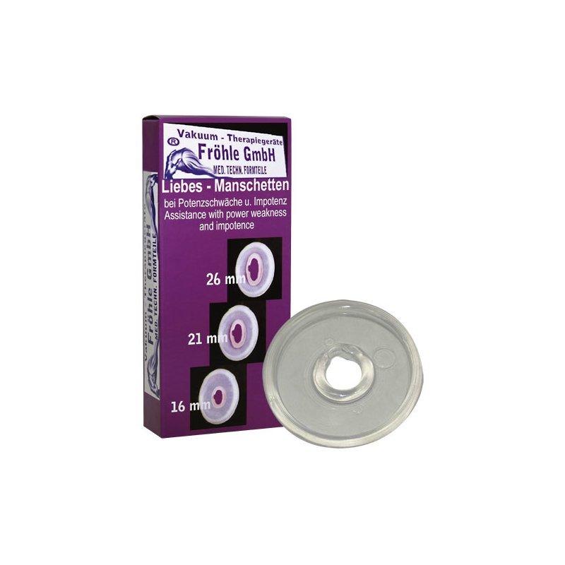 Erekční kroužky Love Sleeve 16mm Fröhle