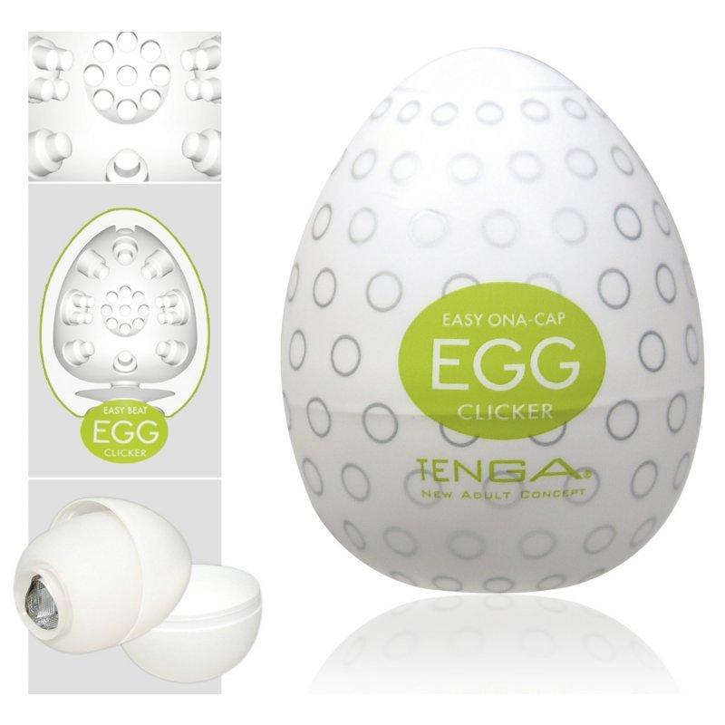 Masturbátor Egg Clicker Single TENGA