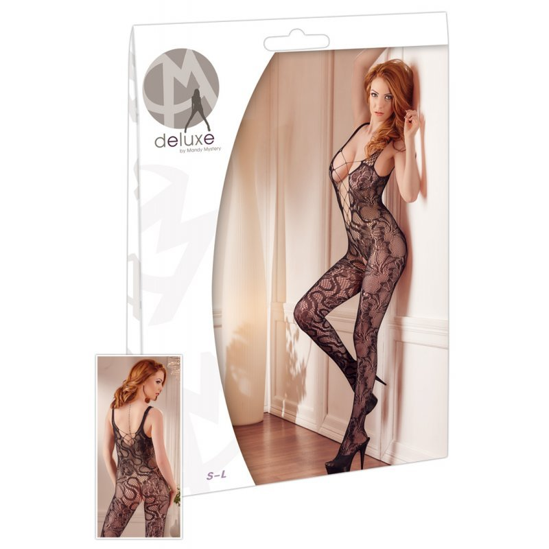 Bodystocking Mandy Mystery Lace Catsuit S-L Mandy Mystery Deluxe