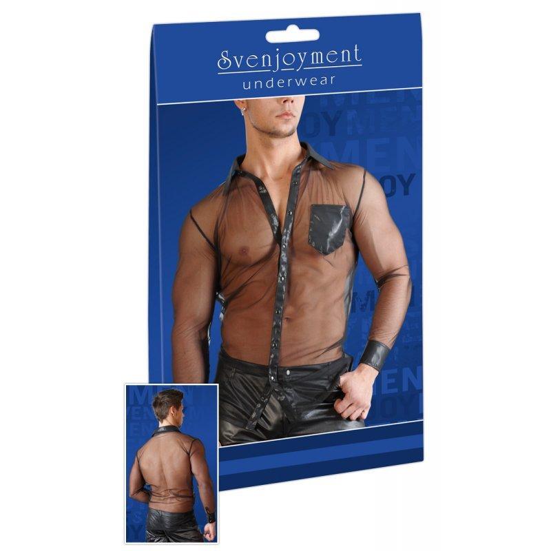 Pánská průsvitná košile černá S Svenjoyment