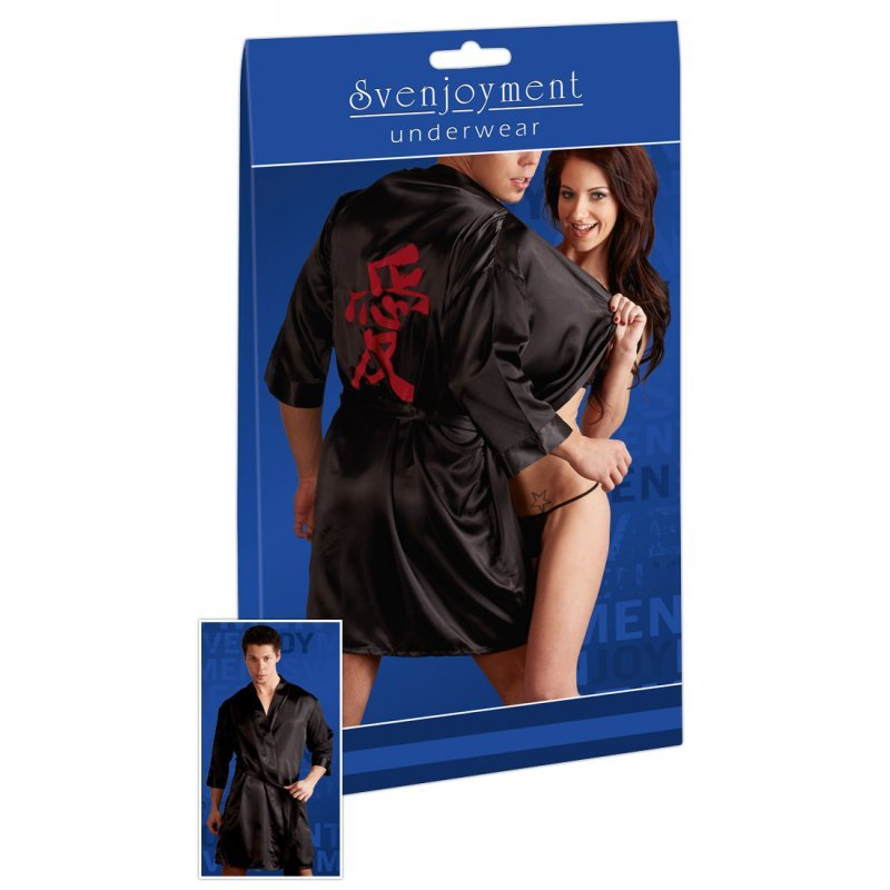 Pánské kimono černé s čínským znakem L/XL Svenjoyment