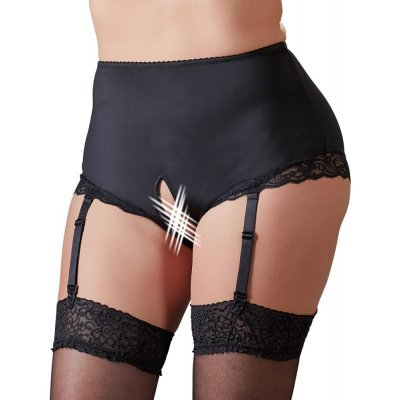 Crotchless Briefs with Suspender Straps