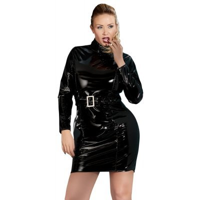 Vinyl Dress with Belt