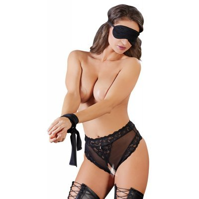 Crotchless Panties, Bondage Scarf and Blindfold