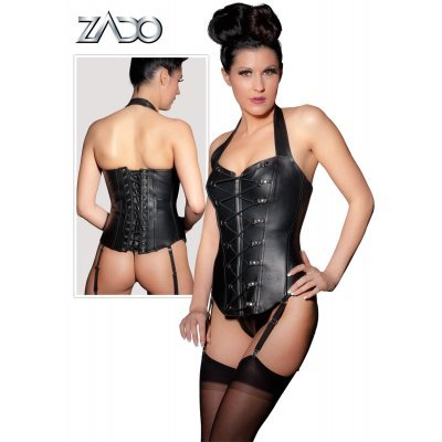 Leather Corset with lacing Set